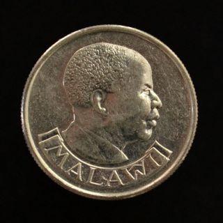 Malawi 5 Tambala.  Km9.  2a.  Ef.  Africa Coin.  Birds.  Heads Of State. photo