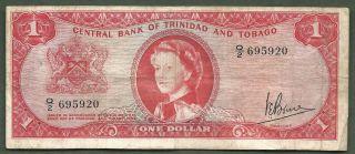 Trinidad And Tobago $1 Qeii 5920 photo
