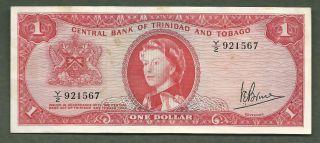 Trinidad And Tobago $1 Qeii 1567 photo