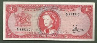 Trinidad And Tobago $1 Qeii 5312 photo