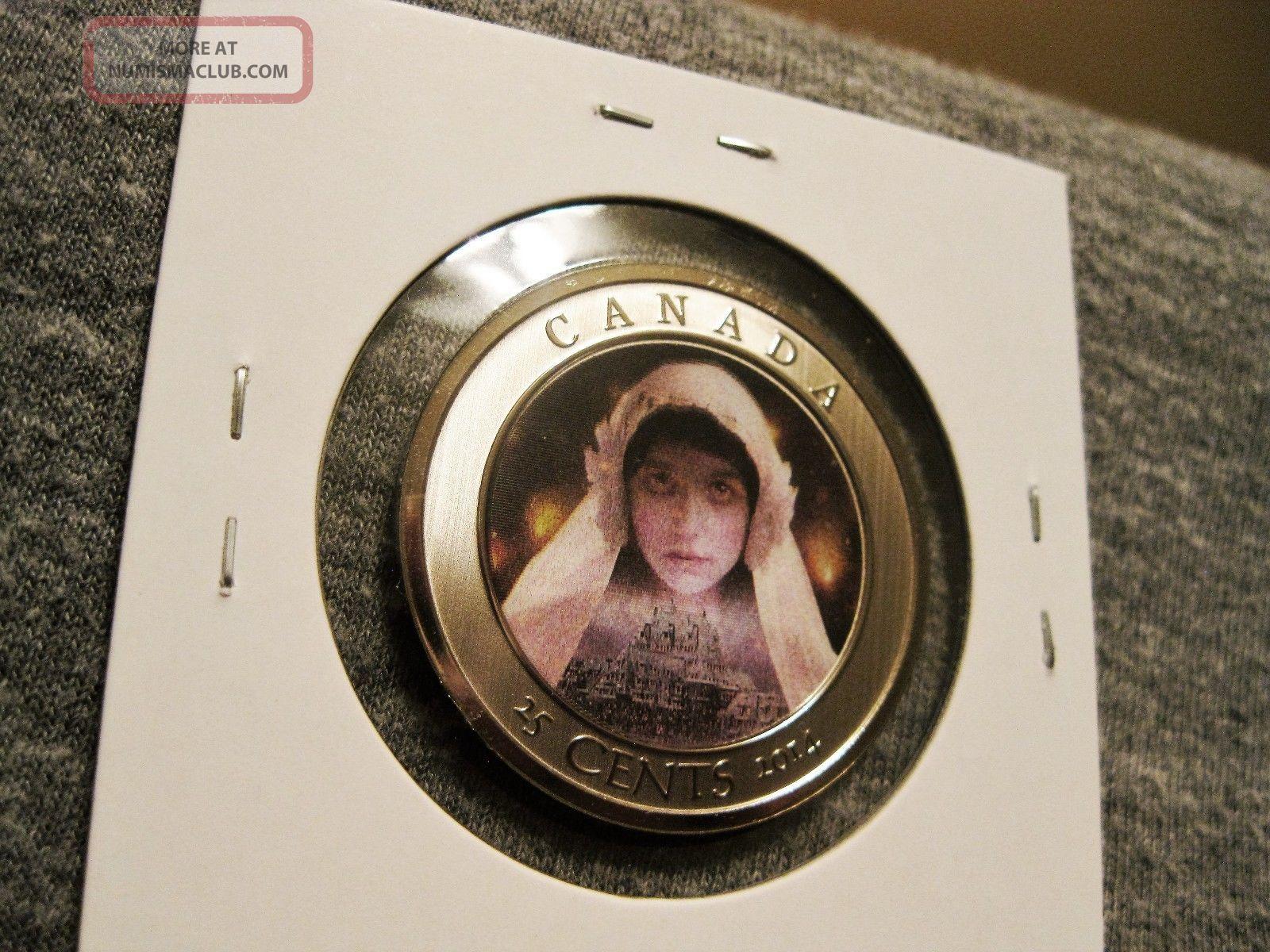 2014 Canada 25 Cent Lenticular Coin Haunted Canada Ghost Bride