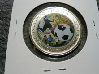 Canada 25 Cents 2014 Fifa World Cup Soccer Futbol photo