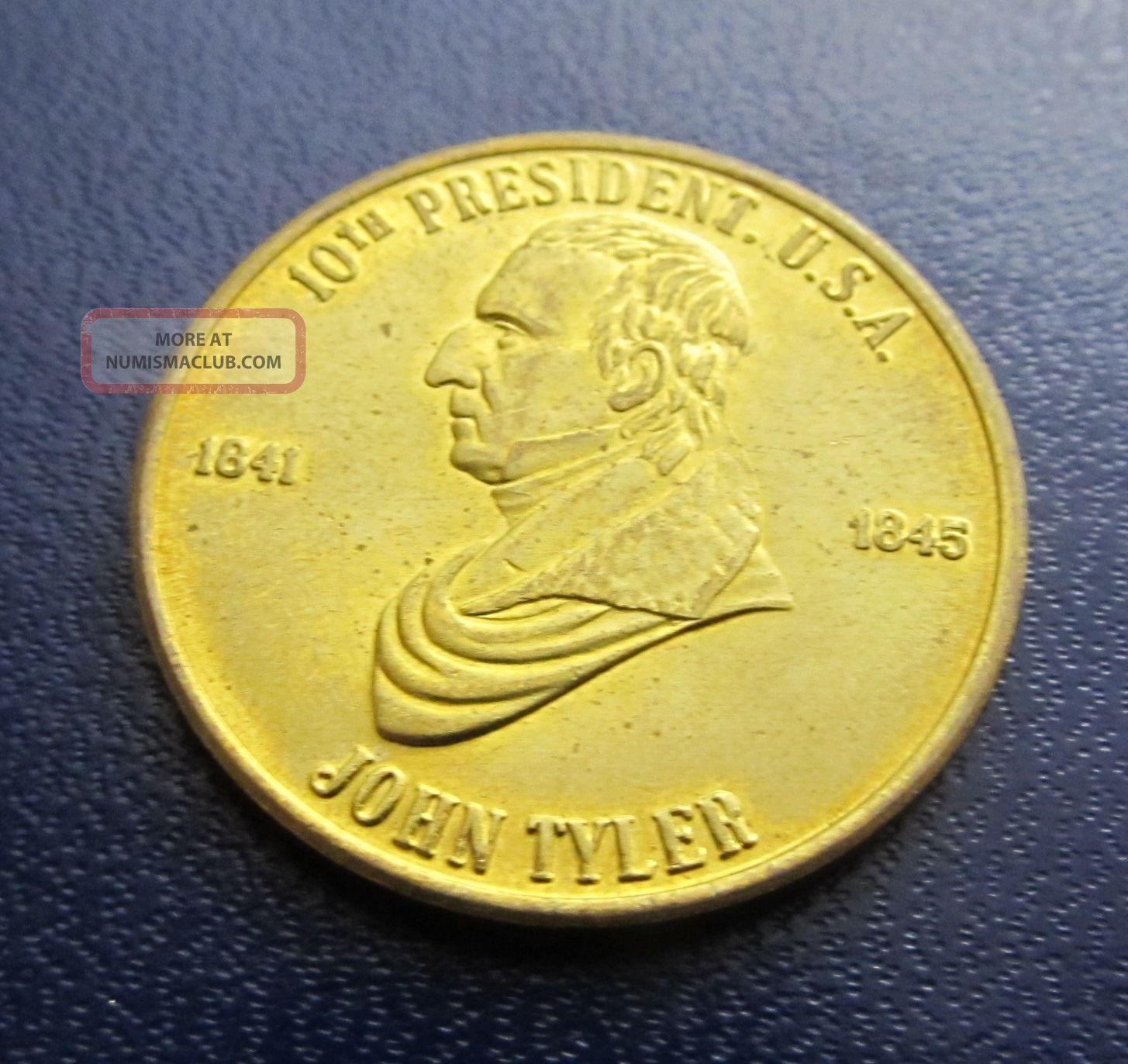 John Tyler 10th Us President 1841 - 1845 Accidential President Coin Medal Token 3 Exonumia photo