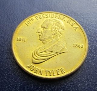 John Tyler 10th Us President 1841 - 1845 Accidential President Coin Medal Token 3 photo