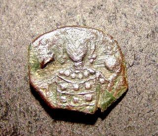 Manuel I,  Crusader Cross W/in Monogram,  Byzantine Half - Tetarerton Coin photo