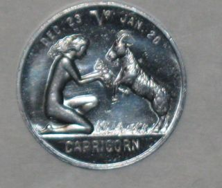 Zodiaccapricorn Good Luck Token Woman Feeding Goat
