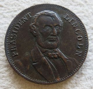 1864 Abraham Lincoln Presidential Spiel - Marke Political Campaign Token photo