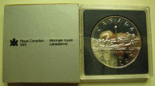 1984 Bu $1 Toronto 150th Anniversary Sesquicentennial Silver Dollar Canada photo