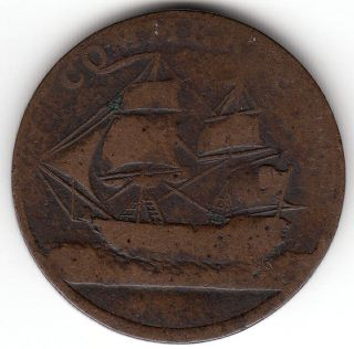 Canada Colonial Token Breton 1013 Am - 5a1 North American Token 1781 Medal Axis photo