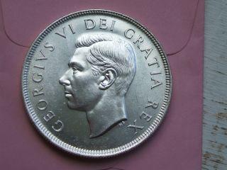 Canada Silver Dollar 1949 Lustrous Unc.  A Beauty photo