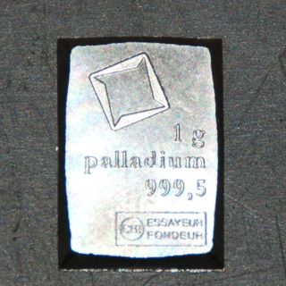 Palladium 1 Gram Valcambi Suisse Combibar 1g Pd 999,  5 - Exact Bar In Picture photo