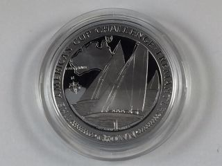 1987.  999 Fine Palladium 1 Oz Isle Of Man America ' S Cup Challenge - Pm21 - Z photo