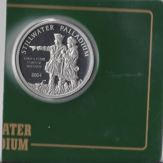 2004 Stillwater Lewis & Clark Buffalo 1/2 Oz Pure Palladium Bullion (10046) photo