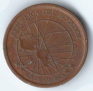 2003 Republica Del Ecuador 1 Centavo Coin Circulated Ecuador South America photo
