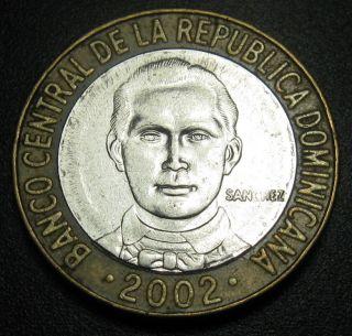 Dominican Republic 5 Pesos 2002 Sanchez Coin 2002 Km 89 Bi - Metallic photo