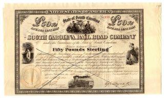 1866 South Carolina Railroad Company Bond photo