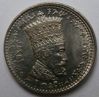 Ethiopia.  Ee1923 - 1929,  Haile Selassie I.  10 Matonas Unc photo