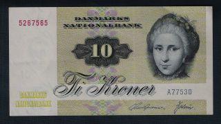 Denmark Banknote 10 Kroner 1972 Series Vf, photo