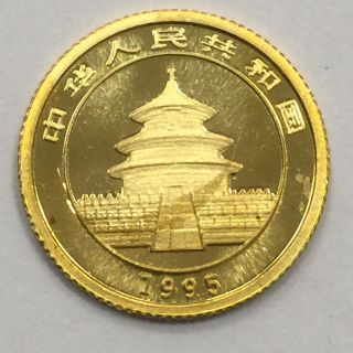 1995 China.  999 Pure Gold 1/20th Panda Bu photo