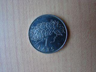 Latvia Lettland 2006 1lats Ligo Wreath Coin,  Circulated photo