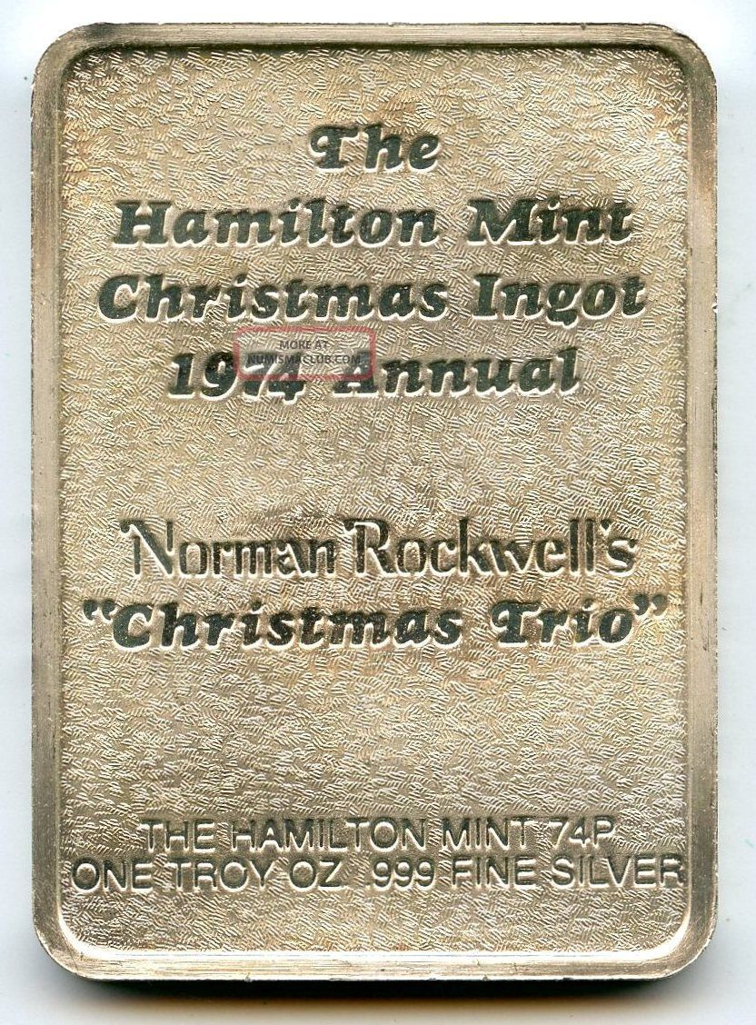 Christmas Trio 1974 Art Medal 999 Silver Norman