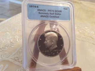 1979 - S Kennedy Half Dollar Anacs Certified Pr 70 Deep Cameo photo