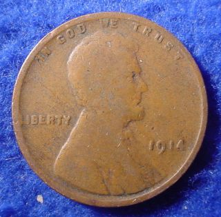 1914 P Philadelphia Lincoln Copper 1c Wheat Cent Penny Low Combined Ship Sa5 photo