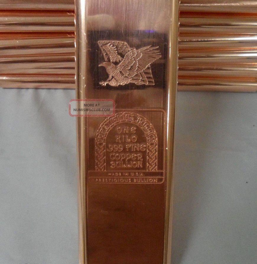 Kilo 2 2 Lbs Eagle Flag 999 Fine Copper Bullion Art