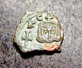 Leo V & Constantine,  Father/son,  Syracuse,  Sicily Ca 820 Ad,  Byzantine Coin photo