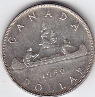 1950 Canada Silver $1 Dollar Coin - Arnprior - A U photo