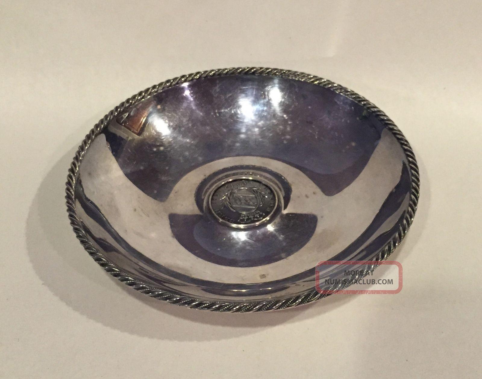 1826 Switzerland Swiss Canton Silver Coin Dish Bern 5 Batz