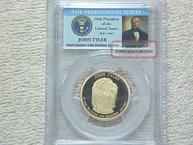 2009 S Uncirculated Proof John Tyler Presidential Dollar Pcgs Graded Pr69 Dcam Dollars photo