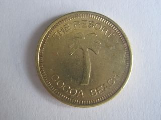 The Resort On Cocoa Beach Florida Token Coin 596 - 1 photo