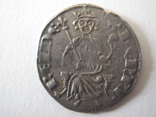 Latin East Gorgeous Silver Gros Cyprus Henri Ii 1310 - 1324 4.  53 Grams Crusades photo
