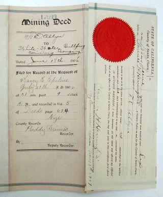 1906 Mining Deed -