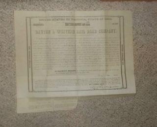 Railroad Bond Dayton & Western Ry 1853 photo