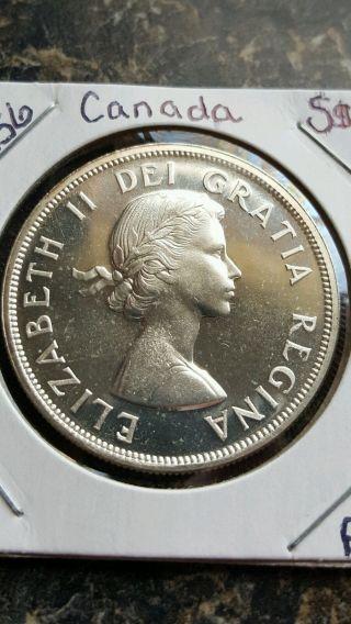 1956 S$1 Canada Silver Dollar☆☆very High Grade☆☆ photo