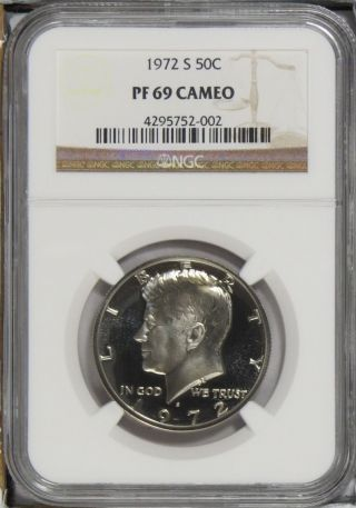 1972 S Kennedy Half Dollar Ngc Pf69 Cameo photo