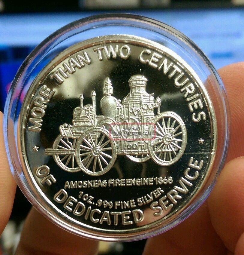 1oz Silver Volunteer Firefighters More Than 2 Centuries