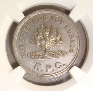 (undated) South Ryegate,  Vermont B - 6078 Communion Token Ngc Ms63 Wings Approved photo
