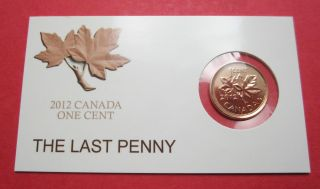Penny - Card - Last 1 - Cent - Coin - 2012 - Canadian - 1c photo
