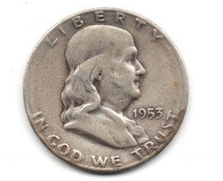Benjamin Franklin Half Dollar 1953 - S photo