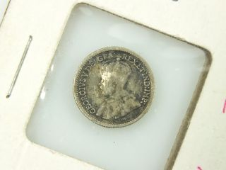 Antique 1914 Canada Five (5) Cents Silver Coin photo