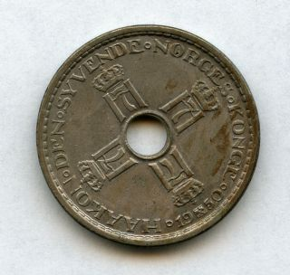 Norway Norge 1 Krone Coin 1950 Currency Mid Century photo