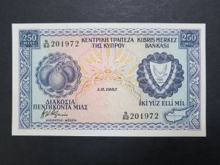 Cyprus,  1982 250 Mils,  Gem Unc photo
