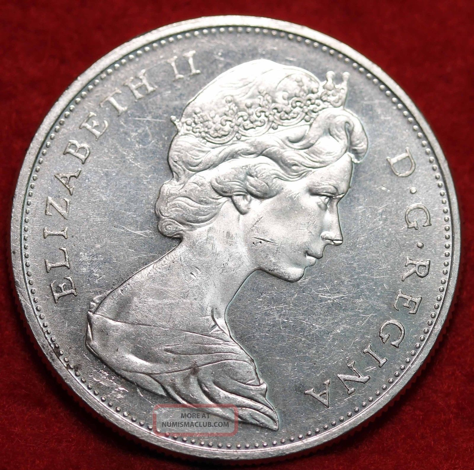 Uncirculated 1965 Canada Silver Dollar Foreign Coin S H