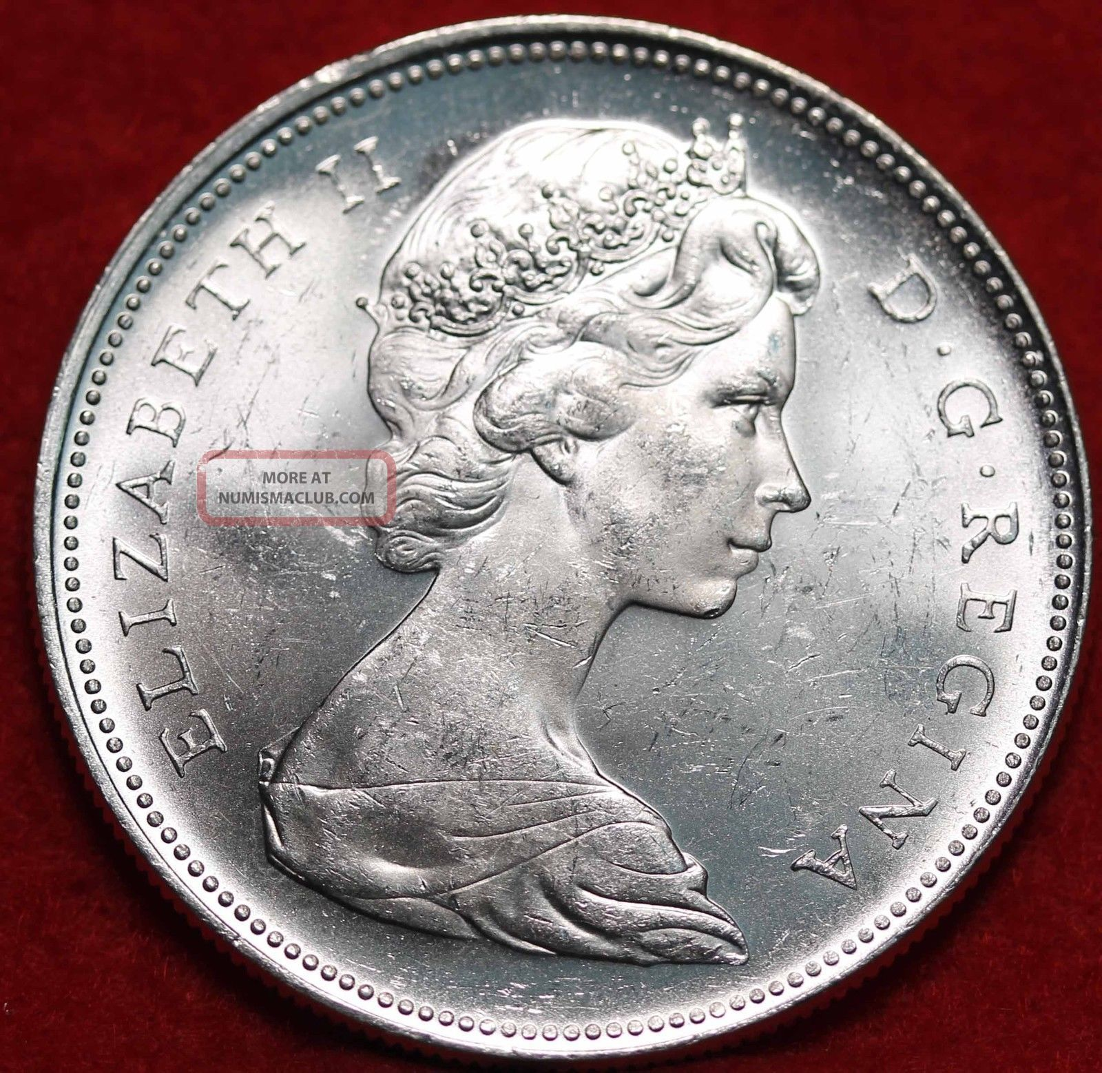 Uncirculated 1966 Canada Silver Dollar Foreign Coin S H
