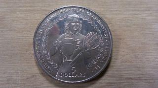 Niue 1988 - Five Dollars,  Tennis - Steffi Graf 1987 Masters Champion - Same Specs photo