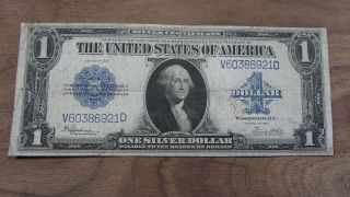 Rare Silver Certificate Series Of 1923 Large Note,  Good Old Bill photo