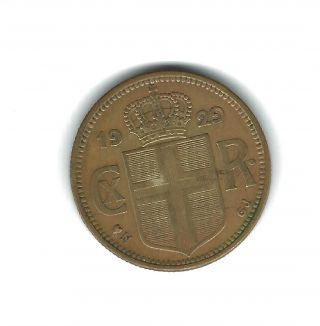 1929 - Iceland 2 Kronur photo
